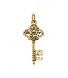 Pendentif clé or