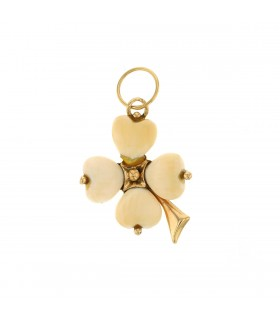 Ivory and gold pendant