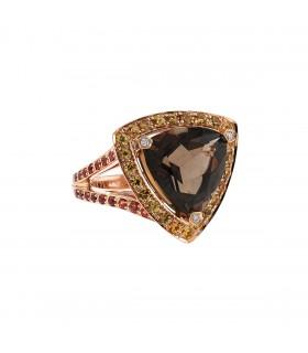 Mauboussin Tellement Subtile pour moi quartz, saphires, diamonds and gold ring