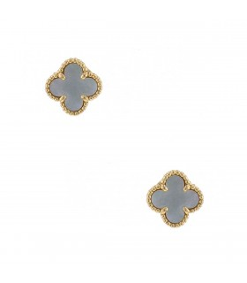 Van Cleef & Arpels Sweet Alhambra mother of pearl and gold earrings