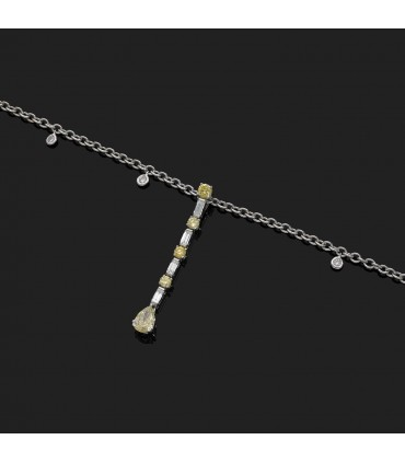Picchiotti Yellow diamonds and gold necklace