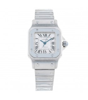 Cartier Santos stainless steel watch