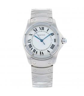 Cartier Santos ronde stainless steel watch