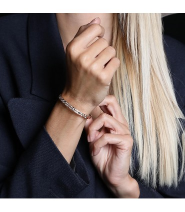 Dinh Van Pulse diamonds and gold bracelet