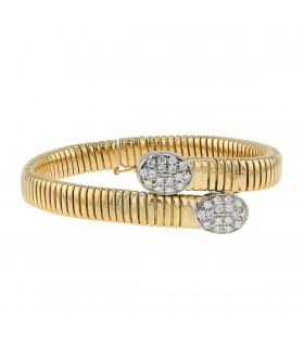 Bracelet tubogaz or et diamants