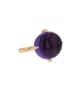 Pomellato Veleno amethyst and gold ring