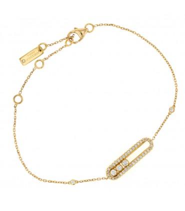 Messika Baby Move Pavé diamonds and gold bracelet