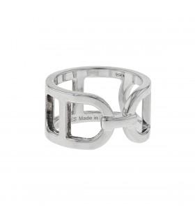 Hermès Ever Chaîne d'Ancre silver ring