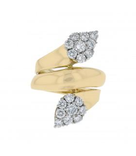 Bague toi & moi or et diamants