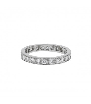 Diamonds and platinum ring