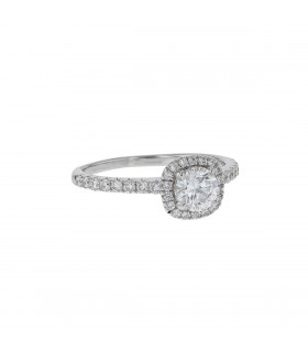 Diamonds and gold ring - GIA certificate 0,50 ct E SI2