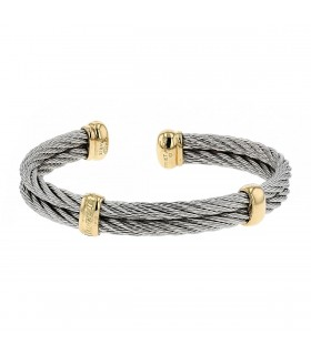 Fred Force 10 stainless steel and gold bracelet