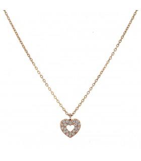 Poiray Coeur Secret diamonds and gold necklace