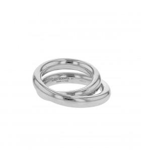 Hermès Vertige silver ring