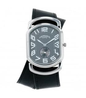Hermès Rallye stainless steel watch