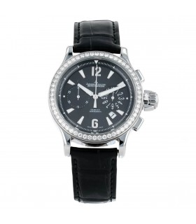 Jaeger Lecoultre Master Compressor diamonds and stainless steel watch