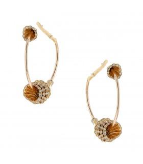 Boucheron Exquises Confidences diamonds and gold earrings