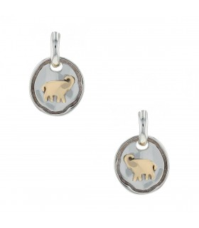 Dodo silver and gold earrings