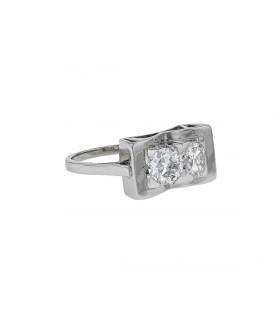 Bague platine et diamants