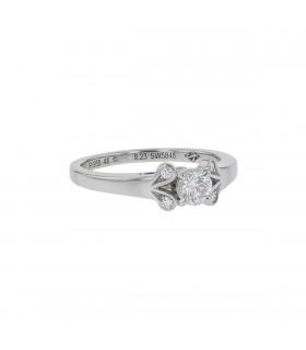 Cartier Ballerine diamonds and platinum ring