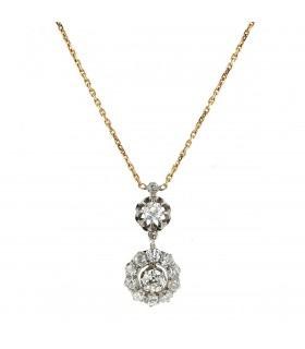 Collier or, platine et diamants