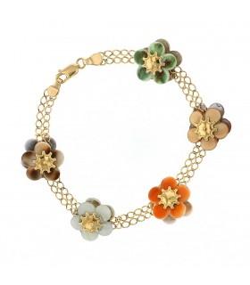 Bracelet or, nacre et coquillage