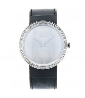 Dior La D stainless steel and diamonds watch