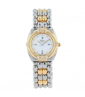 Chopard Gstaad stainless steel and gold watch