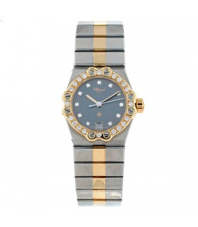 Chopard Saint Moritz stainless steel and gold watch