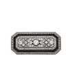 Onyx, diamonds and platinum brooch