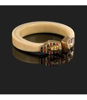 Bracelet Sasportas or et ivoire