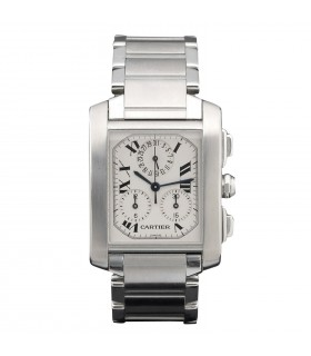 Cartier Tank Française Chronoreflex watch