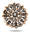 Diamonds, gold and silver brooch